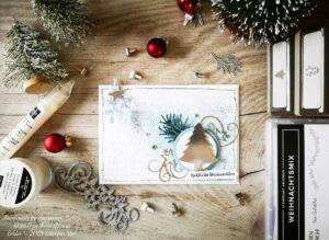 """Weihnachtskarte """"Nadelbaum"""" von Stampin' Up!"""