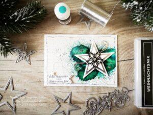 """Weinachtskarte """"Bestickte Sterne"""" und Sprinkles von Stampin' Up!"""
